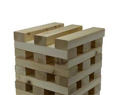 Kingfisher Torre gigante blocchi in legno gioco da giardino marrone Taglia unica