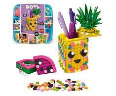 LEGO DOTS Ananas Portapenne, Accessori da Scrivania Fai da Te, Set di Decorazioni DIY, Kit Artistici per Bambini, 41906
