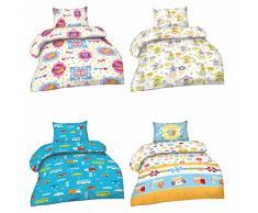 Biancheria da letto per bambini in microfibra, 2 pezzi, 100 x 135 cm + 40 x 60 cm, Öko-Tex Standard 100