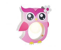 Elobra lampada da bamini da soffitto a sospensione gufo, legno, camerett bimbi, sosa, A++.