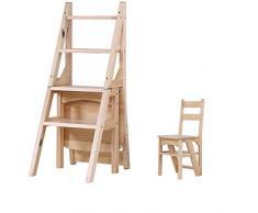 KYSZD-sedia Step Stool Seggiolone Scala scaletta Legno di Pino Scala a 4 Fasi ampliata Sicurezza Panchina per Scarpe Scaffale Domestico Cucina Interno Casa Moderno Semplice