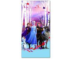 AYMAX S.P.R.L Disney Frozen 2 Princess Anna ed Elsa - Telo mare per bambini, 100% poliestere