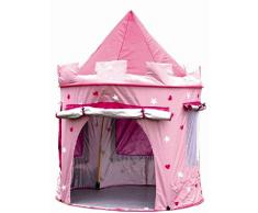 MaMaMeMo Bambini Principessa Pop Up Castello - Adatto per Interno ed Esterno Utilizzo: Ragazze Rosa Giochi Tenda (Tenda Gioco per Bambini)