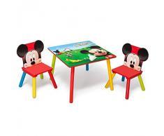 Delta Children's Products - Tavolino con sedie per bambini, in legno, 60 x 60 cm, motivo: Disney Mickey Mouse