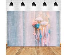 Fondali personalizzati Decorazione della camera da letto della principessa del ricevitore di sogno di compleanno della ragazza Carta di sfondo fotografico Baby Shower Photo Booth Sfondo Cart