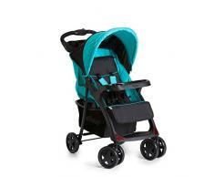 Hauck Shopper Neo II Passeggino, Seduta con Posizione Distesa, Piegatura Compatta, per Bambini da 6 Mesi fino a 15 kg, Caviar Aqua (Nero Blu)
