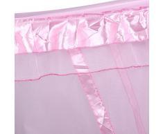 Zanzariera/Copriletto Sui Angoli Montante Del Letto,LArredamento Carino In Stile Di Principessa Per Camera Da Letto( Colore : Rosa , dimensione : 1.5m*2m )