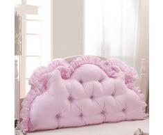 High quality Bedside backrest stile coreano principessa sposa letto comodino grande cuscino grande cuscino dello schienale è rimovibile e lavabile LYY-Cozy Cushion ( colore : Rosa , dimensioni : 1.2M )