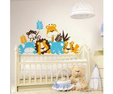 Adesivi Creativi, Adesivo murale Bambini Buongiorno Dimensioni 130 X 69 cm | Wall Stickers per la decorazione della cameretta dei bimbi