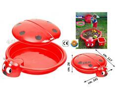 sabbiera grande per bambini con coperchio piscina giardino bambini piscinetta esterno coccinella