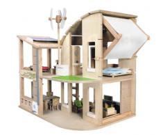 Asa Toys PlanToys PT7156 - Casa giocattolo ecologica con mobili, Gioco in legno