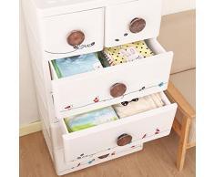 Cassettiera bianco, ha 4 cassetti grandi e 2 piccoli per la stanzetta del neonati e bambini
