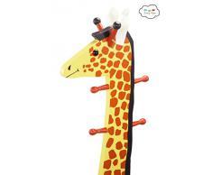 Fantasy Fields by Teamson Giraffe Sgabello con Schienale, Appendiabiti, Multicolore