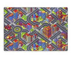 I tappeto di gioco città per i bambini è uno dei più popolari tappeti gioco con motivo strada che garantisce il divertimento sia per i ragazzi e le ragazze, disponibile in varie dimensioni, Größe:200 x 300 cm