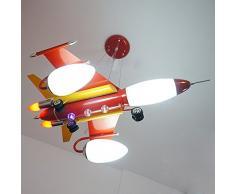 Ferro aereo da ragazzo lampada a sospensione stanza creativa per bambini stanza lampadario per cameretta Cartoon Pendant Lampade Rosso