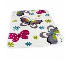 Coperta Coperte Per Bambini Farfalle Crema Coperta Morbida Multicolore Da Gioco, Dimensione:155x215 cm