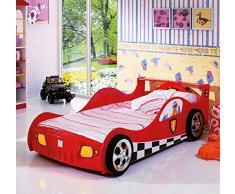 Letto-macchina Furia Formula 1 rosso-Letti e Mobili