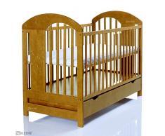 LCP Kids - Lettino bambini 120x60 cm Lasse miele con cassettone/ solido e stabile