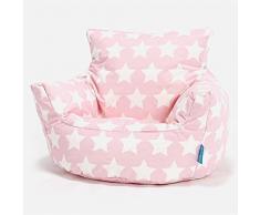 Lounge Pug®, Poltrona Sacco per Bambini, Pouf, Motivo per Bambini - Stella Rosa