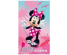 Disney Minnie Asciugamano, Cotone, Multicolore, 70 x 120 cm