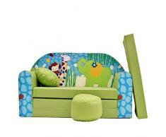 Z16 bambini divano richiudibile divano letto divano Mini divano 3-in-1 Set con + poltrona per bambini e cuscino per sedia + materasso