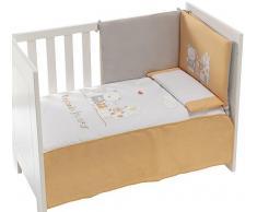 Interbaby - 91127 - Set di 3 pezzi - Trapunta + Paraurti da culla + Cuscino per letto - Arancione - 80x130 cm Arancione, 3