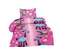 2 pezzi, biancheria da letto per bambini in cotone renforcé 100 x 135 cm + 40 x 60 cm 100 x 135 cm LILO-Pink