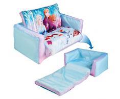 Disney- Lettino e Divano Gonfiabile 2 in 1 per Bambini, Colore Blue, 286FZN