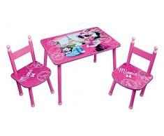 Fun House 712885 - Tavolo con 2 sedie per bambini, in MDF/metallo, 60 x 40 x 44 cm