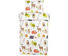Bloomsbury Mill - Animali Del Bosco - Set Di Biancheria Da Letto Per Bambini - Copripiumino 120 cm x 150 cm e Federa Per Culla/Lettino/Letto