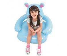 Jilong JL037251NPF -P115 Hippo divano - sedie gonfiabili per bambini dai 3 anni, 78 x 70 x 66 cm