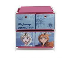 ARDITEX WD12906 - Scaffale con 4 contenitori tessili da 53 x 30 x 60 cm Disney-Frozen II