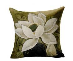 ACVIP Gettare Divano-letto Macchina Cotone di Lino Federa di Disegno Water Lily (COLORE#2)