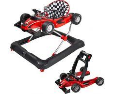 ib style® LITTLE RACER   2 in 1  girello   con effetti luce e suono   EN 1273:2020   rosso