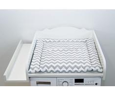 KraftKids - Fasciatoio per cambio pannolino bianco, da appoggiare sulla lavatrice o asciugatrice
