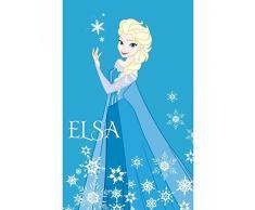 Asciugamano asilo Elsa Frozen Azzurro Spugna 50x80 cm Disney Caleffi celeste