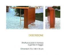 Tavolo in Legno Richiudibile Pieghevole Noce mod. Susanna 140x75x78 cm
