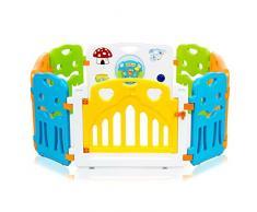 Baby Vivo Box per Bambini Sicurezza Barriera Pieghevole Cancelletto Recinto con Porta Plastica Estensibile - COLORS Parte principale