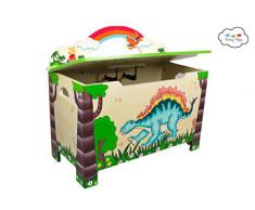 Fantasy Fields by Teamson Dinosaur Scatola per Giocattoli, Multicolore