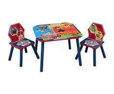 Delta Children - Set Tavolo con 2 Sedie in Legno Paw Patrol