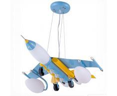 Ferro aereo da ragazzo lampada a sospensione stanza creativa per bambini stanza lampadario per cameretta Cartoon Pendant Lampade blu