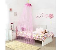 Principessa baldacchino – fiaba per bambini letto a baldacchino con rosa petals- rapido e facile da appendere ragazze stanza da letto – regalo perfetto per ragazze, figlie e Granddaughters