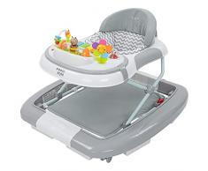 ib style® 3 in 1 Girello per bambini   primi passi   con funzione swing   Luce & Melodia   EN1273:2005   Grigio