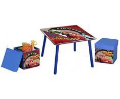 Disney - Set tavolo in legno e 2 sgabelli con contenitore Cars