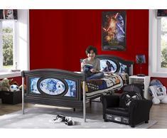 Delta Children Star Wars Letto Singolo, Acciaio, Nero, 199.39x109.22x85.09 cm