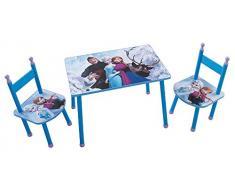 FUN HOUSE 712505 Disney Frozen Set Tavolo con 2 sedie per Bambini in MDF Blu 60 x 40 x 44 cm
