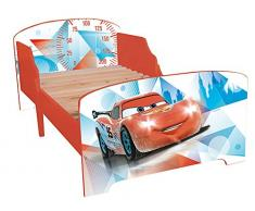 Fun House 712290 - Letto con doghe, motivo: Cars, Ice Racing, dimensioni: 140 x 70 cm