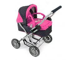 Bayer Chic 2000 555 12 - Passeggino per bambole Smarty, colore: Rosa e blu a pois