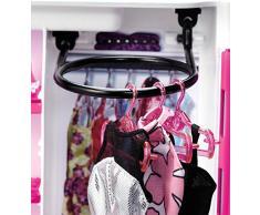 Barbie-DMT57 Fab Fashion Closet Guardaroba alla Moda con Abiti e Accessori, 3 Anni+, Multicolore, DMT57