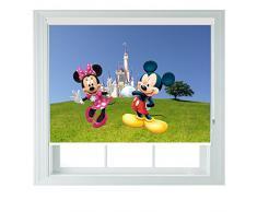 Vari personaggi Disney varie taglie per bambini Black Out tende a rullo per camere da letto, bagni e cucine camper Aoa®, Tessuto, minnie & mickey, 2ft 60cm